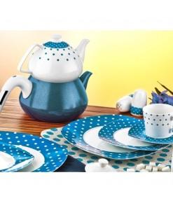 Evimsaray 36 Parça ES-915 Kare Porselen Kahvaltı Takımı