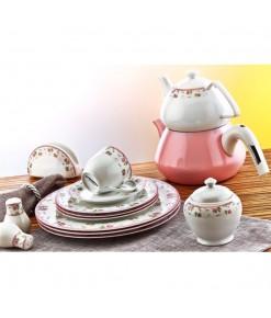 Evimsaray 36 Parça ES-922 Yuvarlak Porselen Kahvaltı Takımı