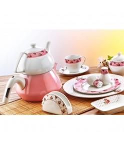 Evimsaray 36 Parça ES-923  Yuvarlak Porselen Kahvaltı Takımı