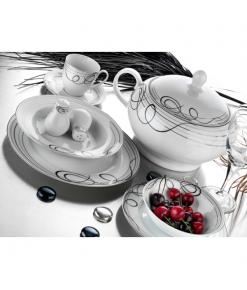 Evimsaray 86 Parça SRY-03 Yuvarlak Porselen Yemek Takımı