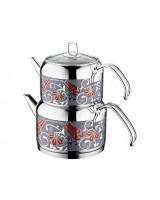 Evimsaray Ece Dekorlu Çaydanlık Takımı Mini