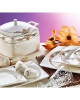 Evimsaray SRY-261 61 Parça Fine Bone Kare Porselen Yemek Takımı