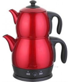 King P315R Lea Kırmızı Çay Makinesi