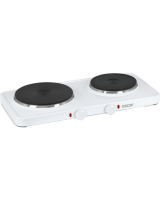 Oscar HP-2550 Pleyt Çiftli Elektrikli Ocak (Beyaz)